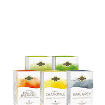 Hidden Garden Premium tea in the pyramid tea bag