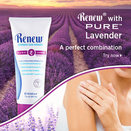 Renew with PURE Lavender. A perfect combination. Try now